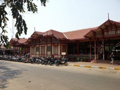Front of Hua Hin Train Station
