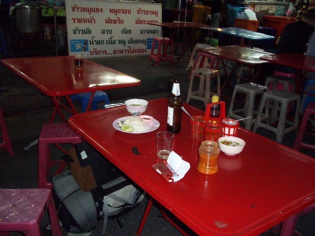 Food outside Bangkok train station