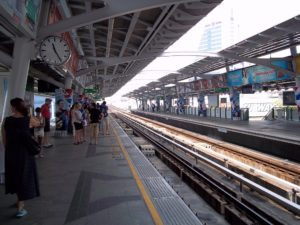 Elevated transit system in Bangkok