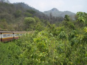 The new train track to Nakhon Ratchasima will pass through some mountainous areas