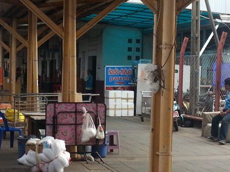 Cargo office at Surat Thani train station