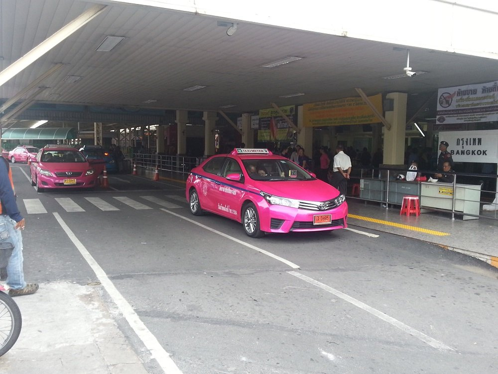 Taxi rank at Bangkok train station
