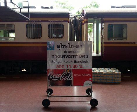 Train #172 ready to depart from Sungai Kolok to Bangkok