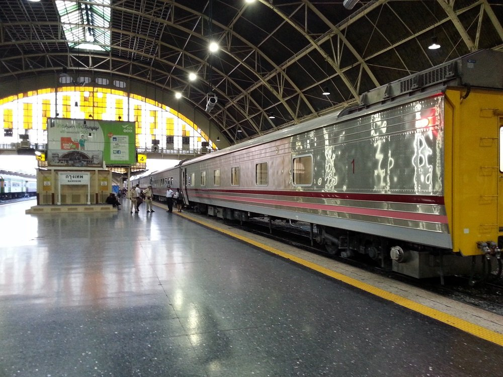 Outside of Thailand's new trains