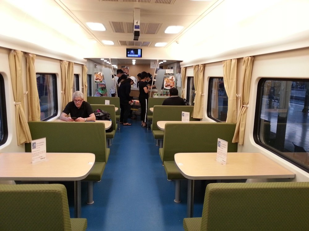 Restaurant Car in Thailand's new trains
