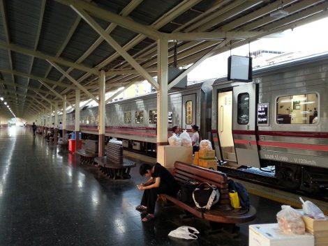 Platform at Bangkok Train Station