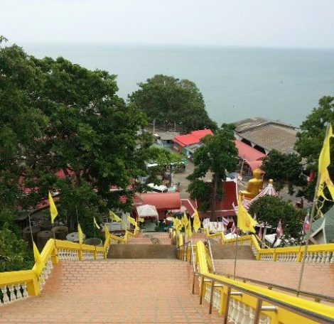 View from Wat Khao Takiap in Hua Hin
