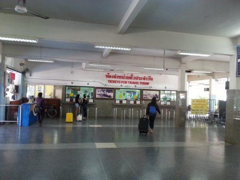 Ticket hall at Hat Yai Train Station