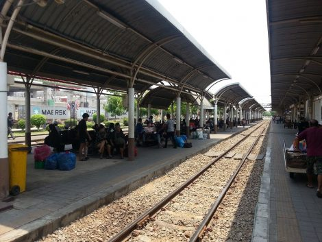 Waiting area at Bang Sue Train Station