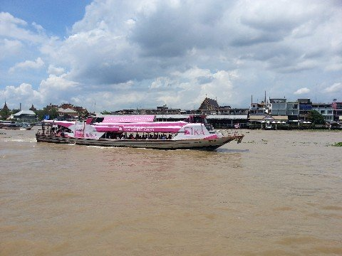 Travel from Bangkok Train Station to Khao San by public ferry