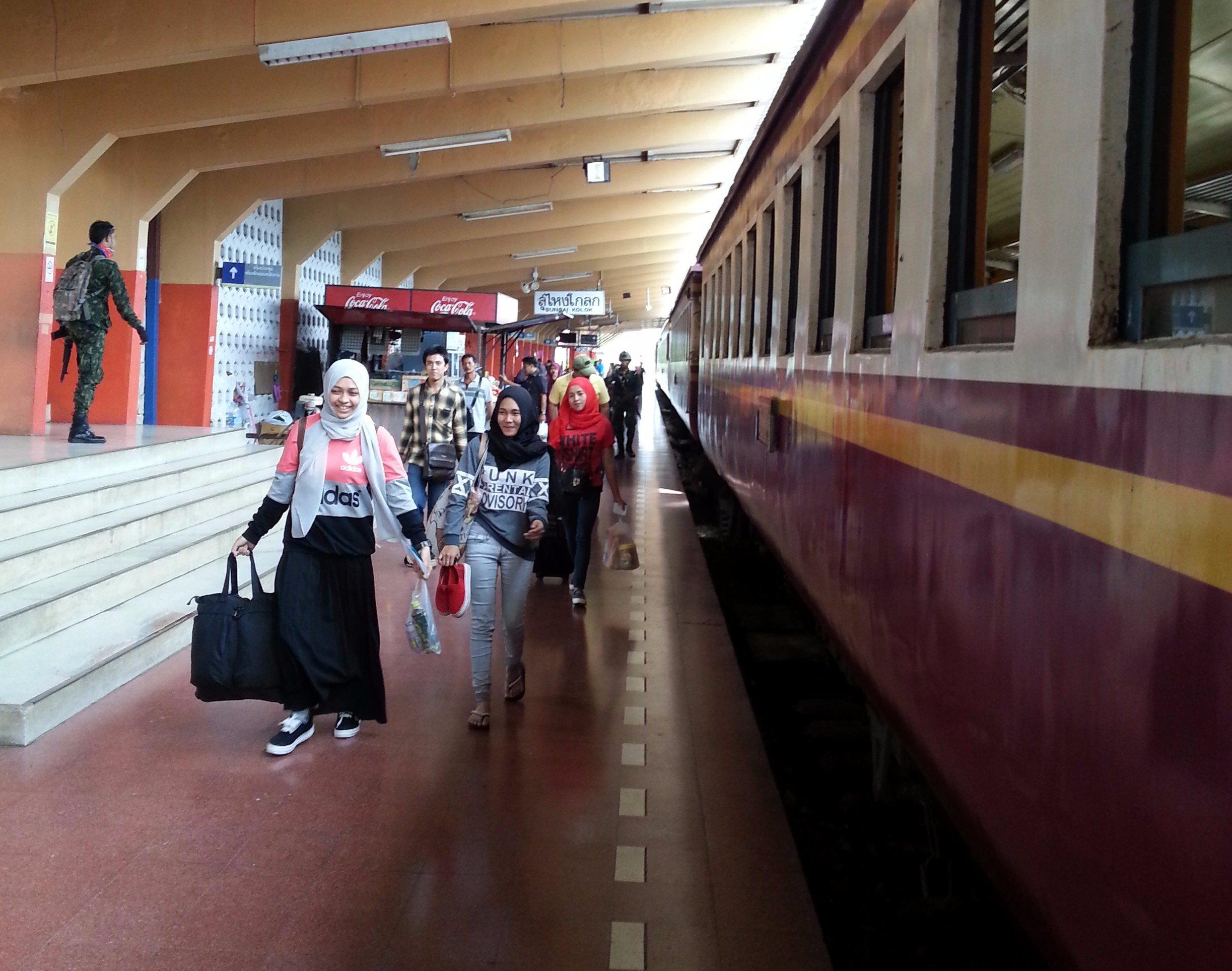 Arrival at Sungai Kolok Train Station