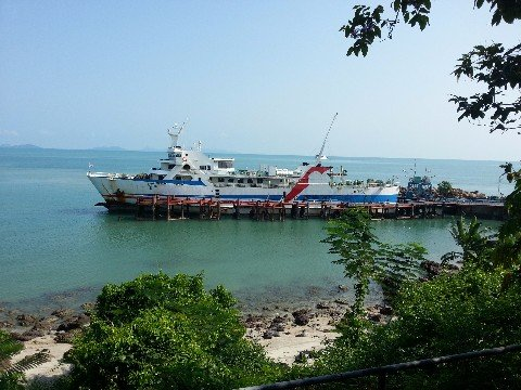 Ferry services to Koh Samui and Koh Phangan depart from Surat Thani