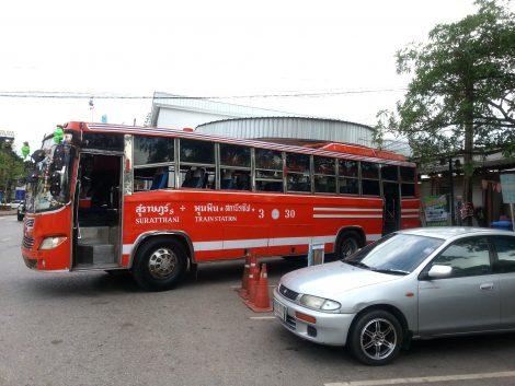 Bus at Surat Thani Train Station