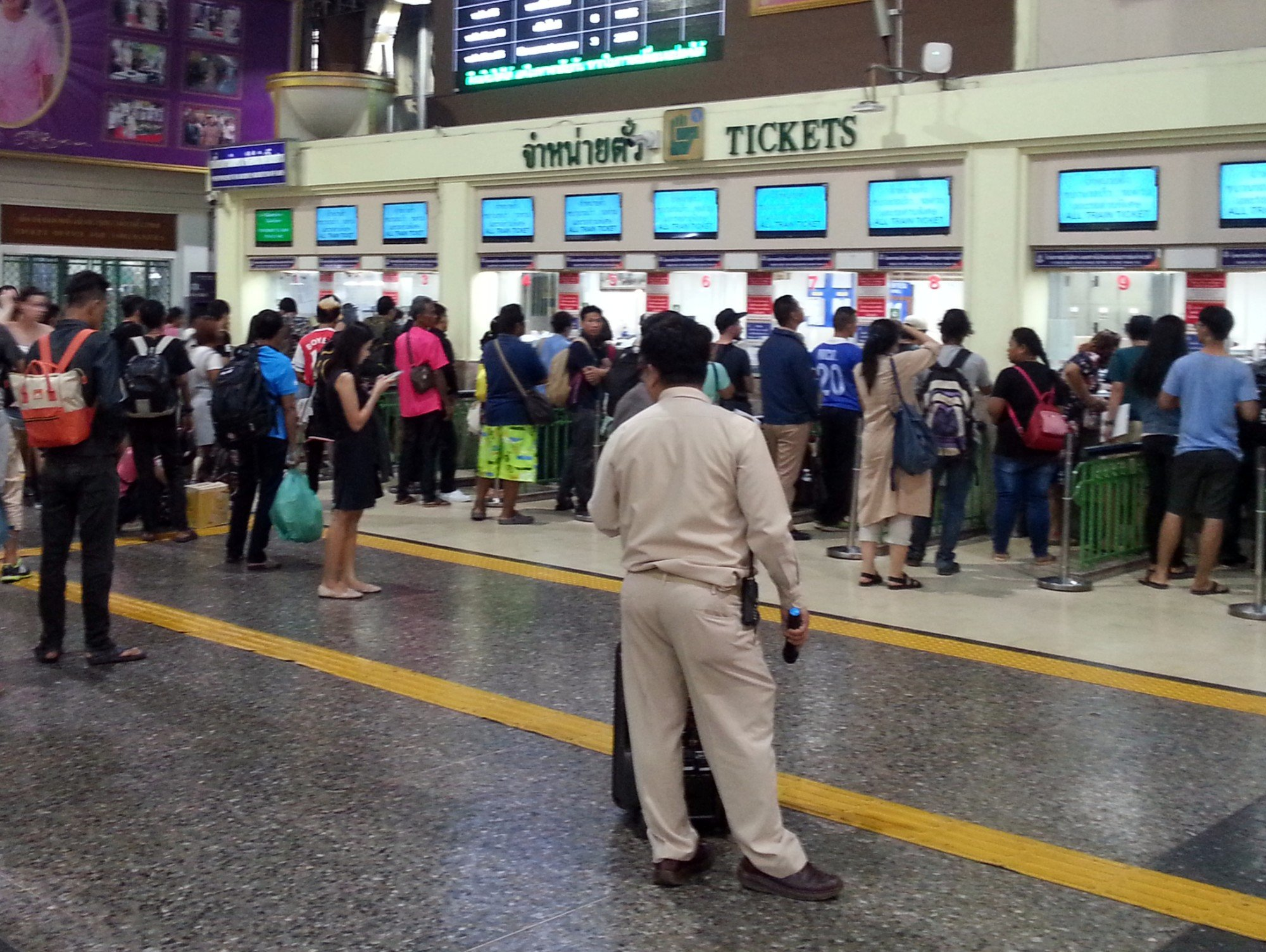 The ticket counters get busy during Songkran
