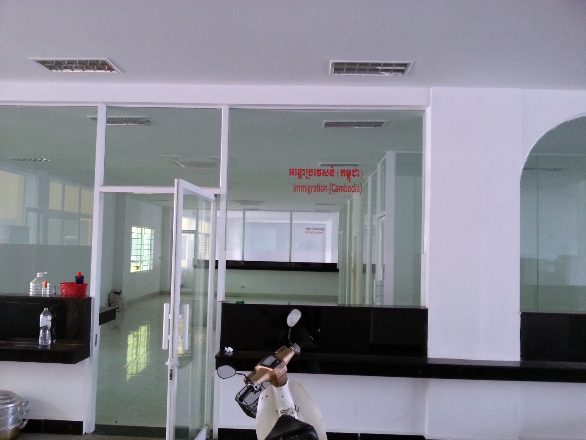Immigration office under Construction at Poipet Railway Station