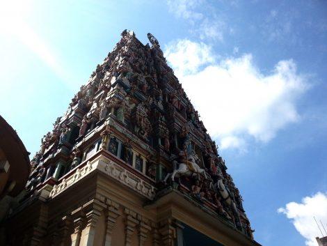 Gopura at the Sri Mahamariamman Temple in Kuala Lumpur