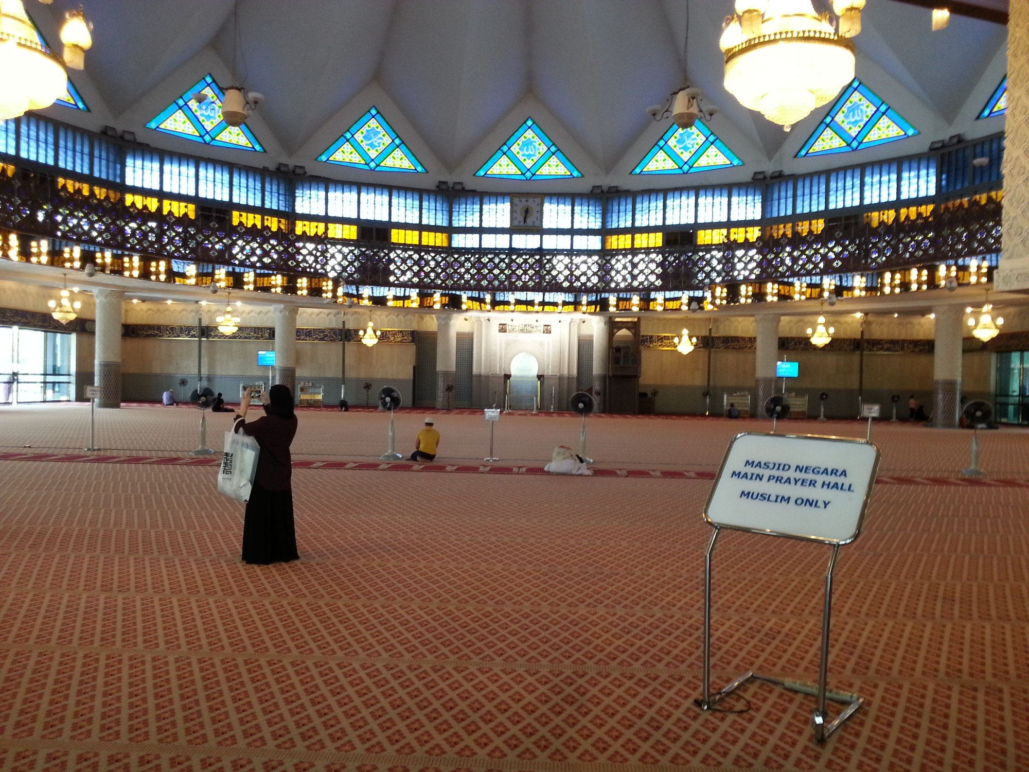The National Mosque in Kuala Lumpur