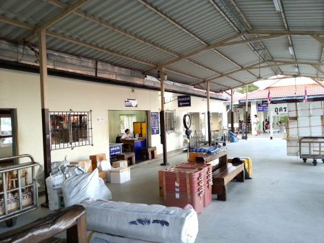 Cargo and parcels office at Udon Thani Train Station