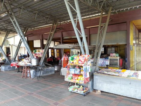 Stalls on the platform at Phatthalung Railway Station