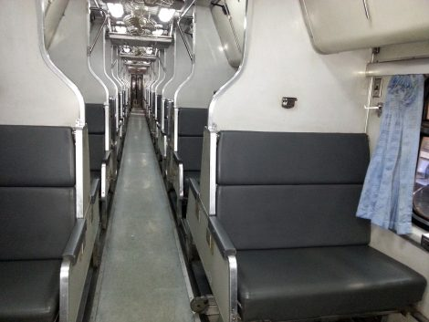 2nd Class sleeper carriage on a train to Bangkok