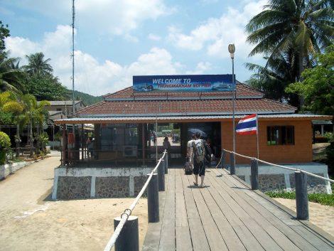 Thung Makham ferry pier in Chumphon