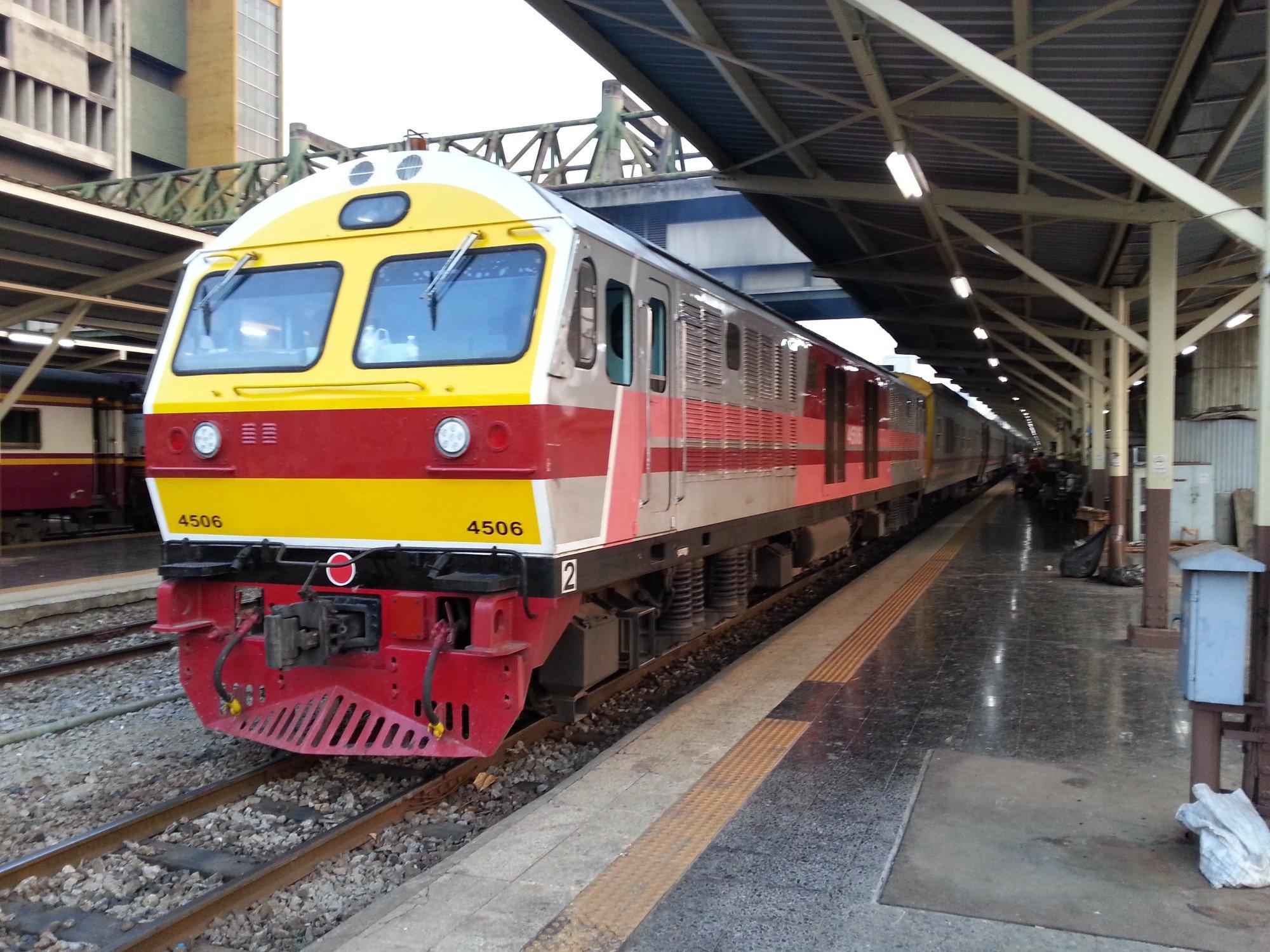 Train to Chumphon at Bangkok Railway Station