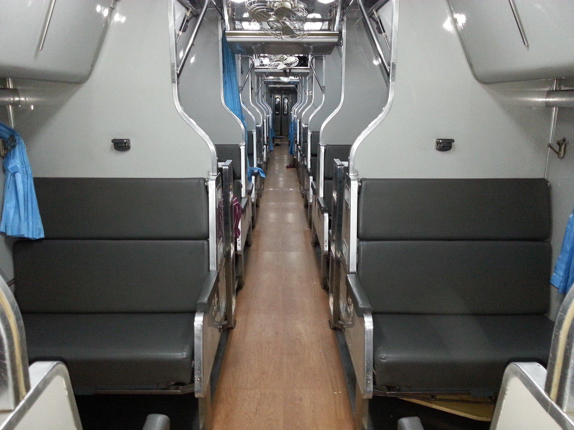 2nd Class AC carriage on a Thai train