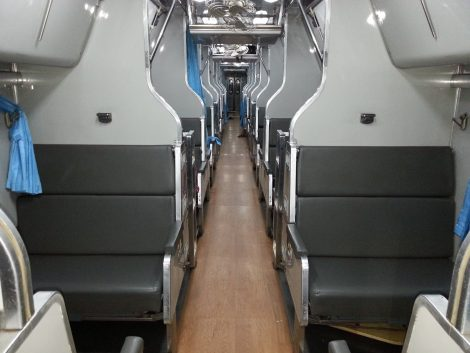 2nd Class sleeper carriage on the train to Surat Thani