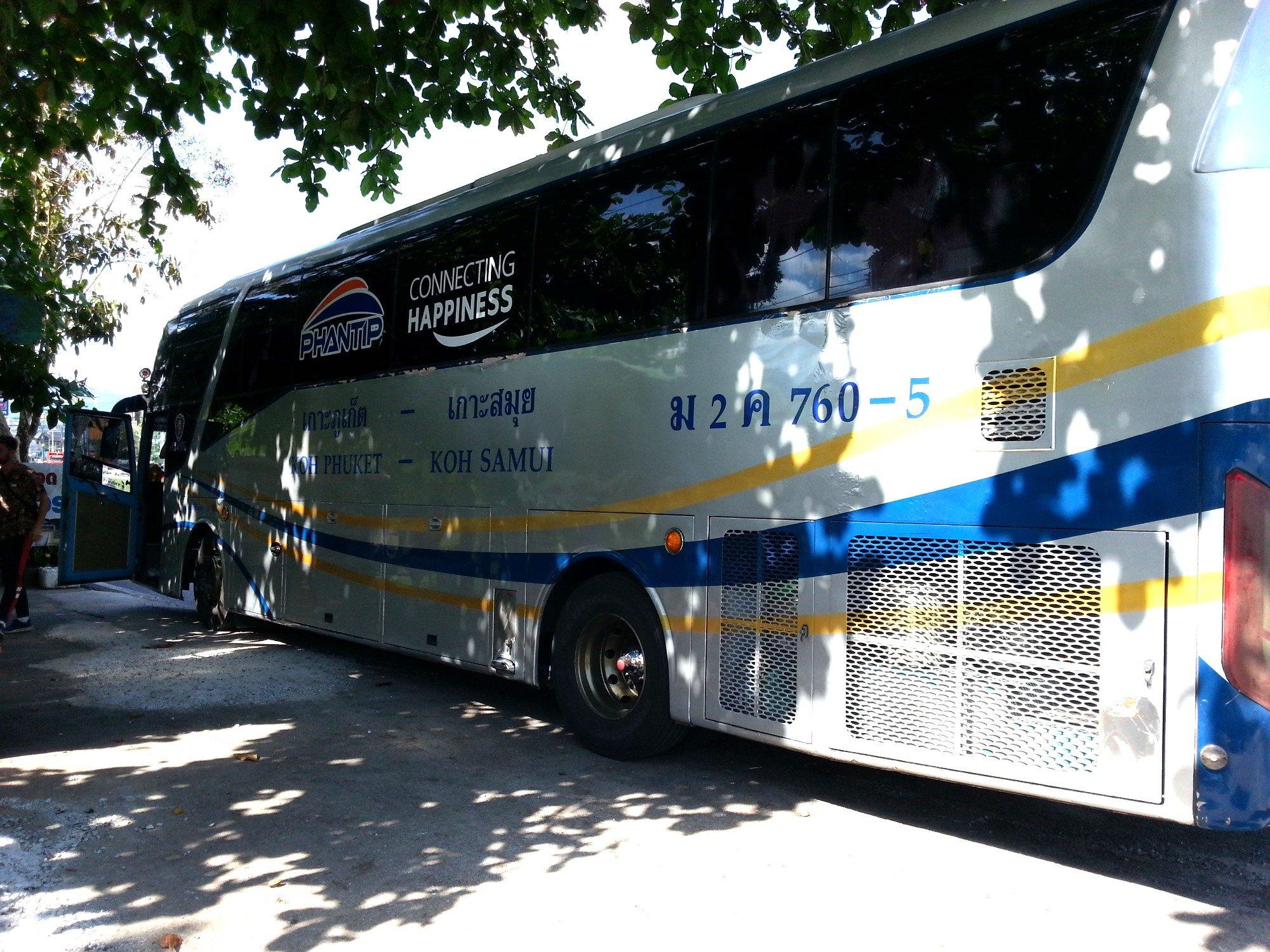 Phantip bus to Surat Thani