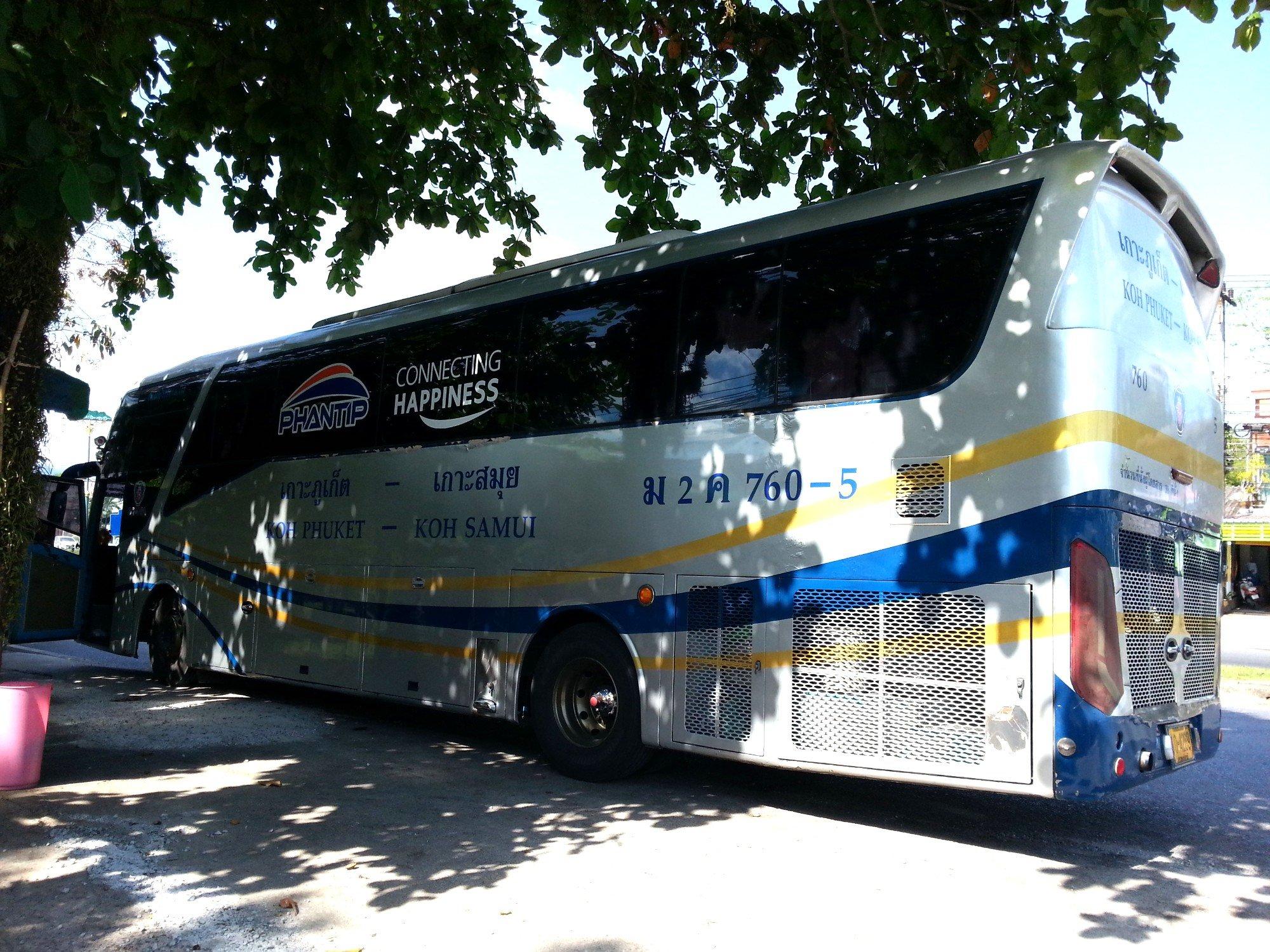 Phantip Bus to Phuket