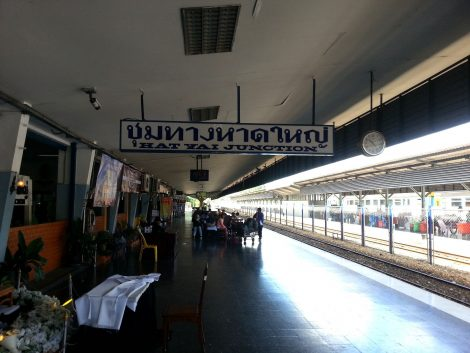Platform 1 at Hat Yai Railway Station