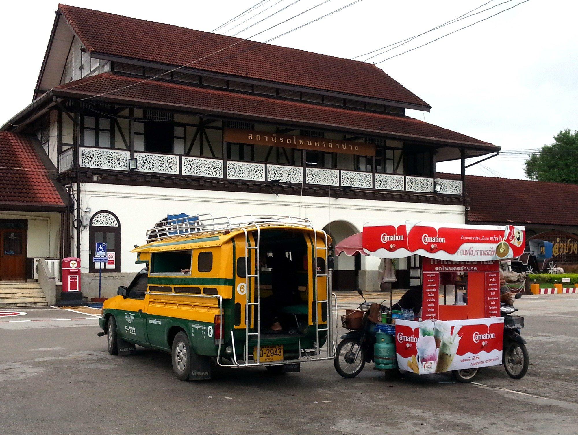 Shared taxi at Lampang Railway Station