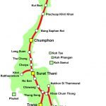 Thailand Railway Map Southern Line