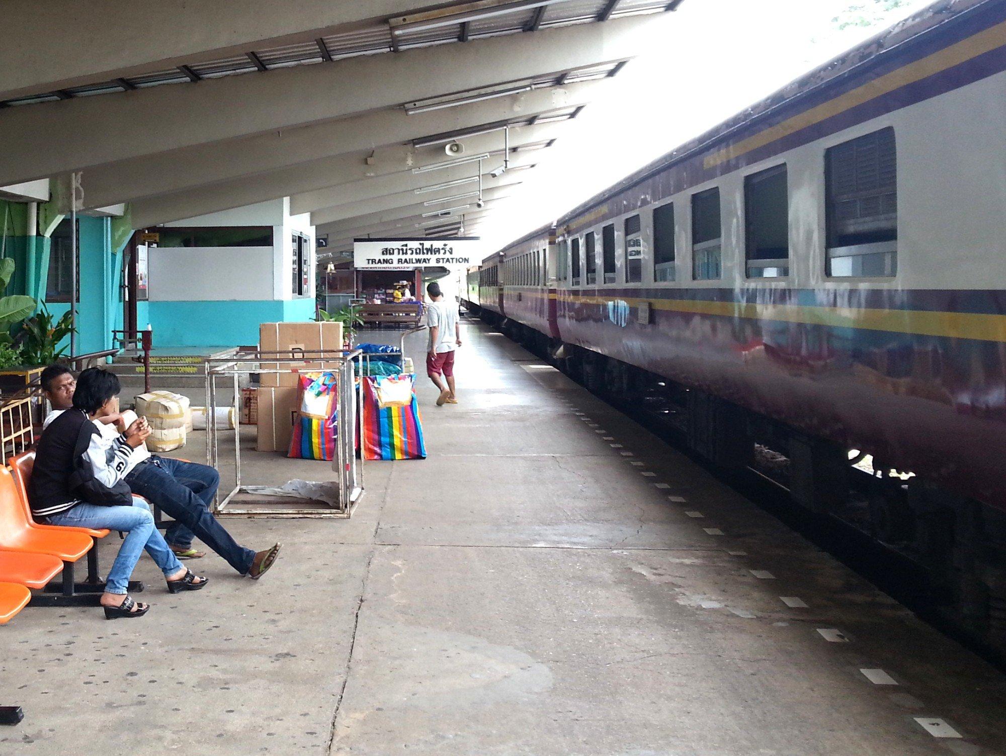 Train at Trang Railway Station