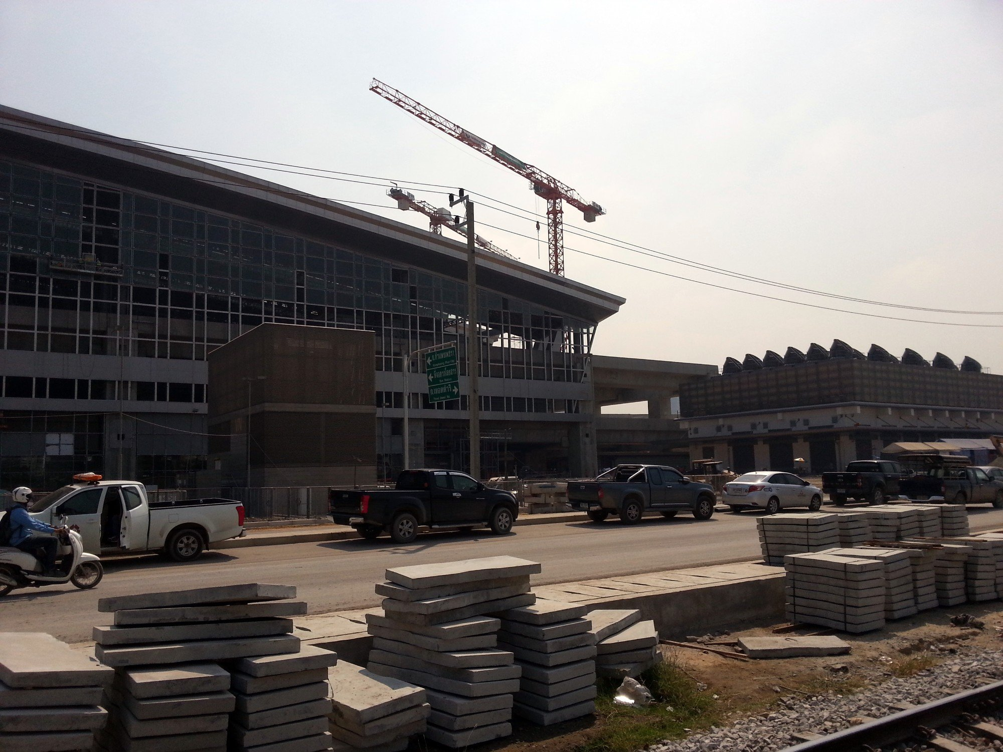 Construction in progress at Bang Sue Central Station
