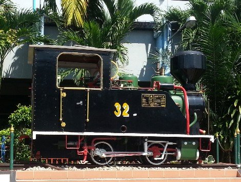 Steam engine at Hat Yai Railway Station